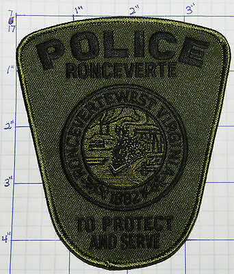 West Virginia, Ronceverte Police Dept Subdued Patch