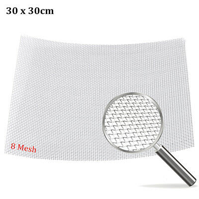 """8 Mesh / 2500 Micron Stainless Steel Filter Filtration Woven Wire Screen 12""""X12"""""""