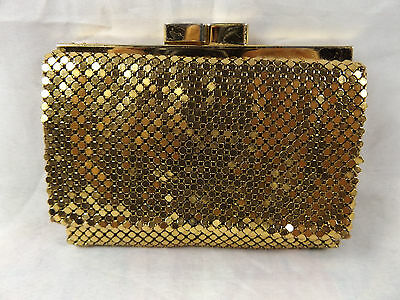 Vintage Ca 1960s Glomesh Gold Mesh Ladies Purse