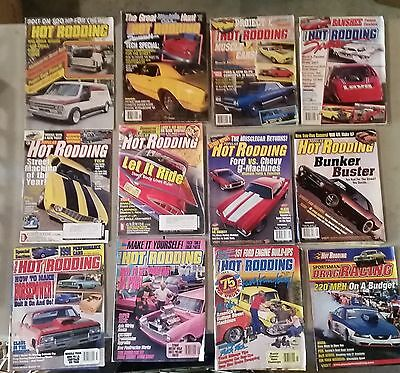 Vintage Popular Hot Rodding Magazines Mixed Lot Of 12 from 1977-2003