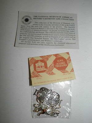 Vintage NOS Town Square Doll Accessories Miniatures - Silver Tea Service