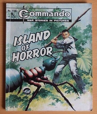 """COMMANDO War Stories in Pictures # 1180 """"Island of Horror"""" issued 1977."""