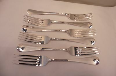 Good Antique Sterling Silver Set Of Six Old English Dinner Forks London 1881...