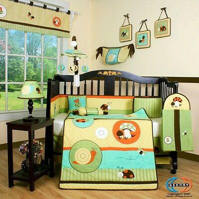 Baby Boutique Garden Paradise 13PCS Nursery CRIB BEDDING SET
