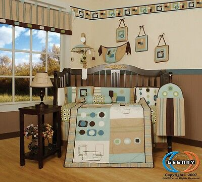 Baby Boutique Boy Artist GEENNY 13PCS Nursery CRIB BEDDING SET