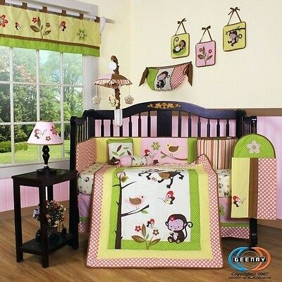 Baby Boutique Monkey GEENNY 13PCS Nursery CRIB BEDDING SET