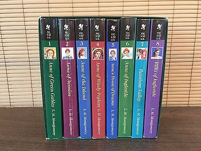 ANNE of GREEN GABLES Complete 1-8 Book Set Paperback Boxed L.M. Montgomery