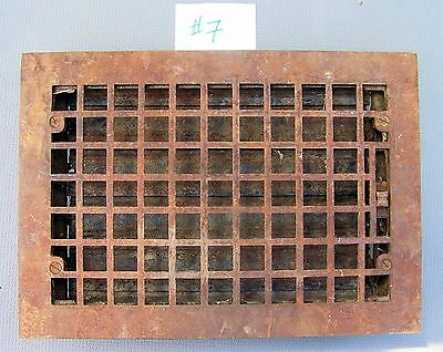 """CAST IRON Wall  Floor Register Grate Vent 13-3/4"""" x 19-3/4"""" with louvres *****#7"""