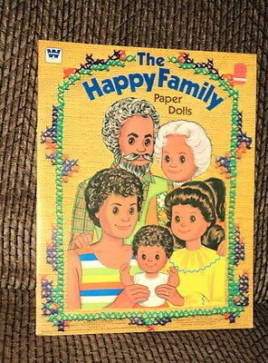 1977 The Happy Family Paper Doll Book Complete And Uncut By Whitman!