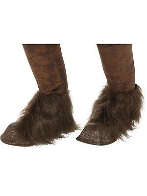 Krampus Devil Demon Hoofs Shoe Covers Latex Fur Horror Fancy Dress