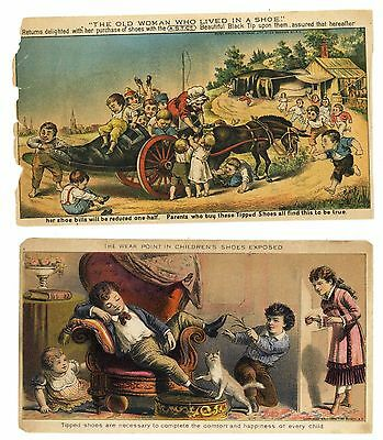 BOOTS & SHOES Victorian Trade Cards, 306, 2, Woman in Shoe
