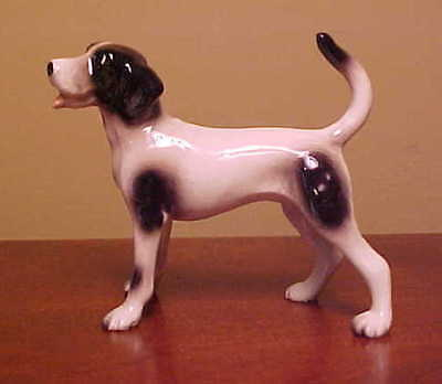 Hagen-Renaker Mini #4048 HAPPY HOUND - Miniature Ceramic Dog Figurine