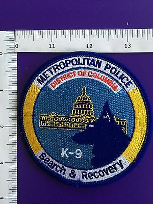 District Of Columbia Police K-9 Search & Recovery  Shoulder Patch