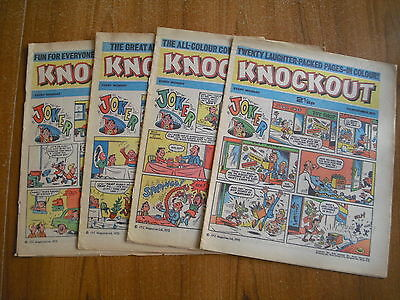 4 x KNOCKOUT COMICS FROM NOVEMBER 1972