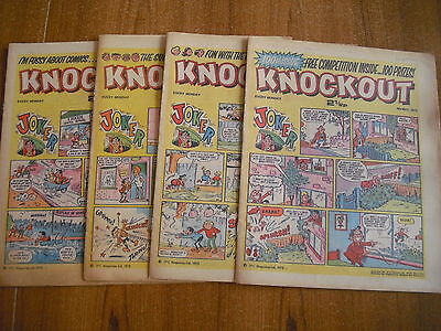 4 x KNOCKOUT COMICS FROM MAY 1973