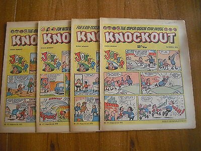 4 x KNOCKOUT COMICS FROM MARCH 1973