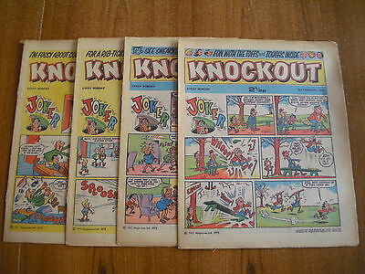 4 x KNOCKOUT COMICS FROM FEBRUARY 1973