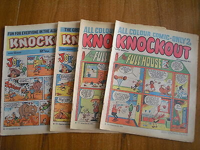 4 x KNOCKOUT COMICS FROM 1972