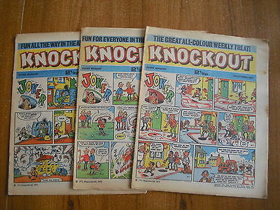 3 x KNOCKOUT COMICS FROM OCTOBER 1972
