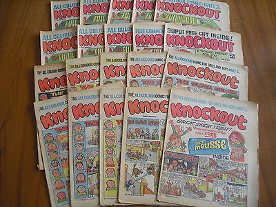 20 x KNOCKOUT COMICS FROM 1971
