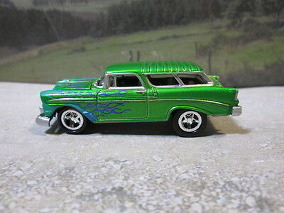 1956  '56   CHEVY NOMAD   (green)  1/64 S SCALE DIE-CAST