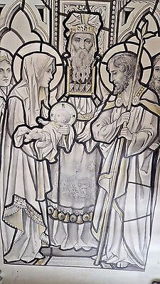 Frank O Salisbury 1874-1962 Full Size 110 Cm! Painting Stained Glass Window