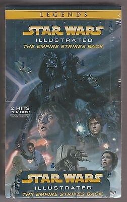 Star Wars Illustrated Empire Strikes Back  Factory Sealed Trading Card Hobby Box