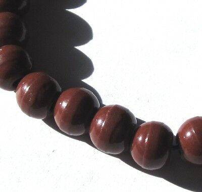 """24 Rare Amazing Old Chocolate Czech """"prosser"""" Antique Beads African Trade"""