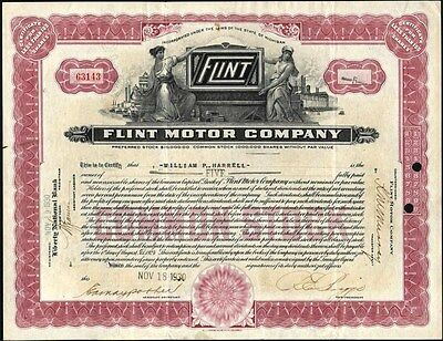 Flint Motor Company, Auto Manufacturer Located In Michigan, 1930, Stock Cft.