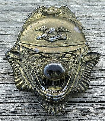 Police Pig Law Enforcement 1970's Vintage Belt Buckle