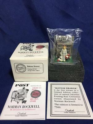 Norman Rockwell Goebel Miniatures Bottom Drawer Pewter Figure 1989