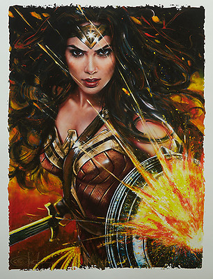 Olivia SIGNED 2017 SDCC Exclusive Sideshow Wonder Woman Artist Proof AP Print #9