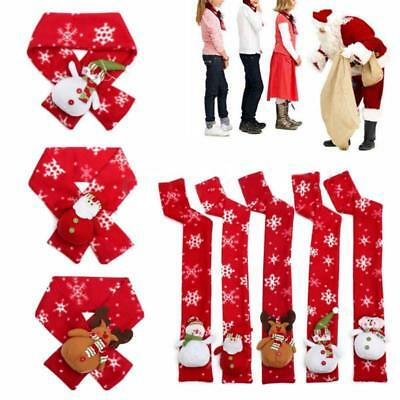Baby Kids Girls Boys Christmas Snowflake Snowman Winter Warmer Scarf Gifts Q