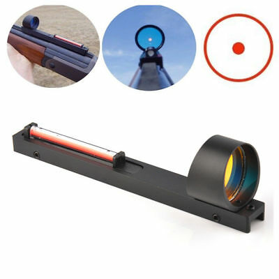Hunting Red Dot Holographic Sight Red Fiber Fit Shotgun Rib Rail for Rifle Scope