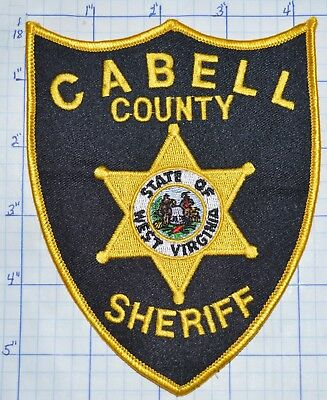 """West Virginia, Cabell County Sheriff Version 3 5.5"""" Patch"""