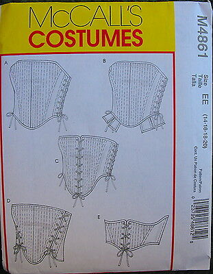 2 McCALL'S CORSET BONED RE-ENACTMENT SEW SEWING PATTERNS MISSES COSTUME SUMMER