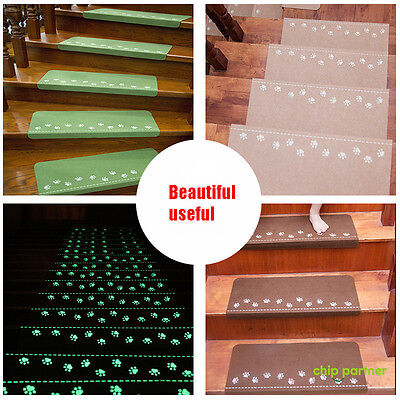 13X Stair Carpet Pad Self Adhesive Anti-Skid Treads Mat Safety Cover 3 Color Kit