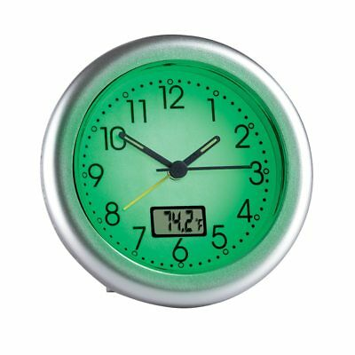 Glow in the Dark Alarm Clock with Large Numbers and Thermometer