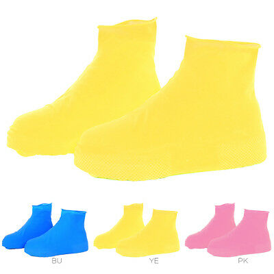 1Pair Waterproof Latex Rain Shoes Boots Cover Case Snow Overshoes Anti-slip Tool