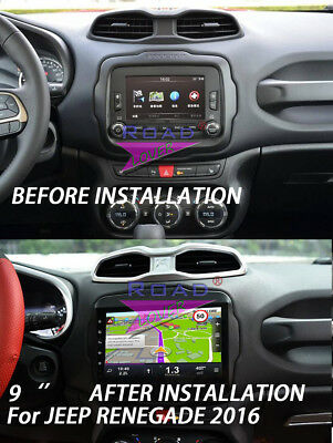 """9"""" Android 6.0 Car Multimedia GPS For Jeep Renegade 2016 Stereo Player MP3 NAV"""