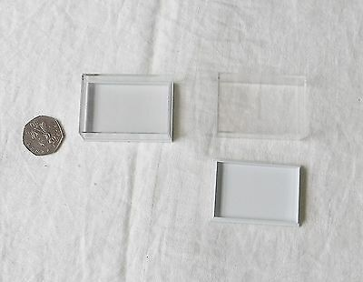 Jewellery Display Clear Perspex Plastic Boxes Lot Of 33 Pre-Used 60Mm X 41 X 21