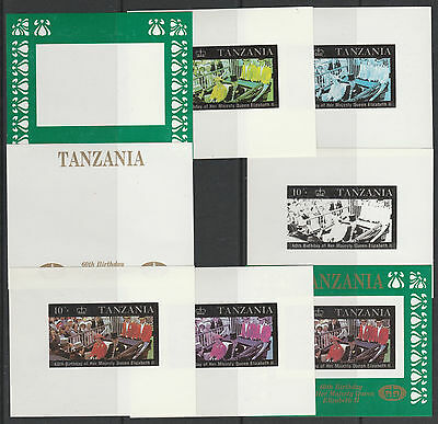Tanzania 5129 - 1987 60th Birthday UNISSUED 10s deluxe sheet  COLOUR PROOFS