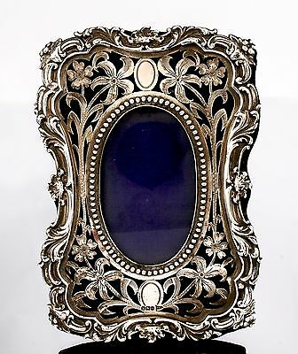 Stunning Antique Sterling Silver Photo Frame by Walker and Hall