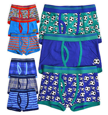Boys 3 Pack Boxers New Kids Cotton Rich Printed Brief Shorts Ages 2 - 13 Years