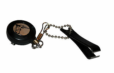 Pin On Reel Zinger with Line Cutter Snips for fishing fly carp coarse
