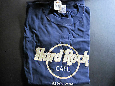 Hard Rock Cafe - Barcelona - Retro 1990's- Classic Brand New Blue T-Shirt