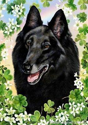 Large Indoor/Outdoor Clover Flag - Belgian Sheepdog 31204