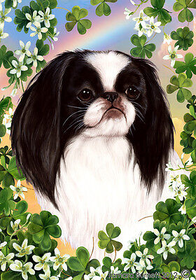 Large Indoor/Outdoor Clover Flag - Japanese Chin 31133
