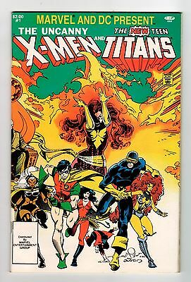 Marvel and DC UNCANNY X-MEN AND NEW TEEN TITANS #1 1982 NM Vintage Comic