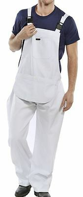 Click White Cotton Painters Decorators Bib and Brace Dungarees Work Trousers New